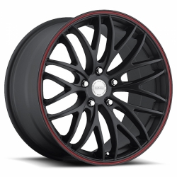 Alu kolo 18x7,5 Katana GTM Black Red Stripe