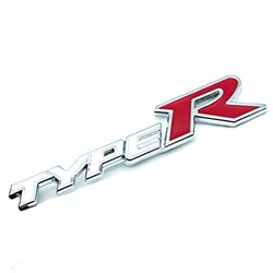 JDM logo Type-R White - Honda Civic, Accord, Prelude, S2000, atd.