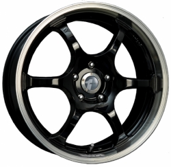 Alu kolo 18x8 Avid.1 AV-02 Gloss Black w/ Machined Lip