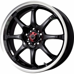 Alu kolo 17x7 Drag DR-55 Black w/Machined Lip
