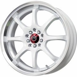 Alu kolo 17x7 Drag DR-55 White w/Machined Lip