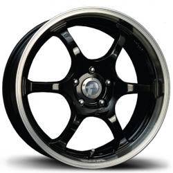 Avid.1 AV-02 Black/Machined Lip - 7x17 5x100 / 5x114.3 ET 42