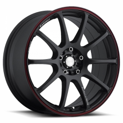 Katana RC10 Black Red Stripe - 8x18 4x100 / 4x114.3 ET 45