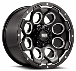 GRID Off-Road Wheels GD Gloss Black Milled alu kolo pro Dodge RAM - 20x9 5x139.7 ET15