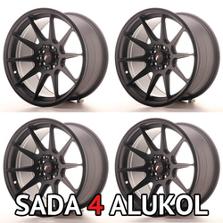 Japan Racing JR11 Matt Black - 17x9 ET35 5x100/114,3 - SADA 4 ALUKOL